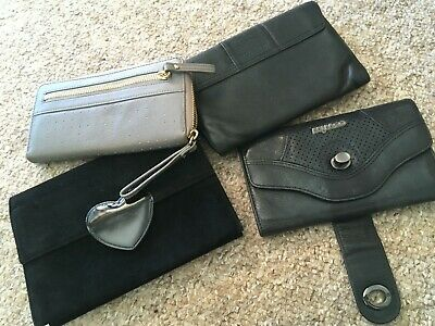 Collection of leather purses/clutches (4)( Mimco, Witchery, Status Anxiety)