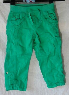 Girls Palomino Green Adjustable Leg Ruched Cargo Cropped Trousers Age 6-7 Years