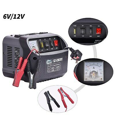 SwitZer Car Battery Charger 6V/12V Portable Vehicle Jump Starter with Handle