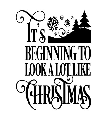Its beginning to look a lot like christmas - Wine bottle vinyl decal sticker DIY