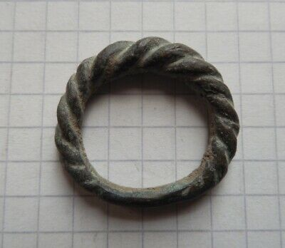 Viking period bronze whole psevdo-twisted ring, American Size 8
