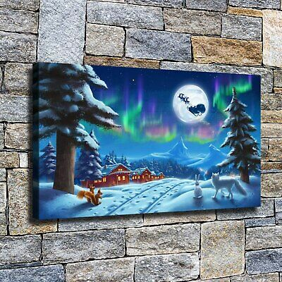 """12""""x22""""Under the month of Santa Claus HD canvas home decor wall art paintings"""