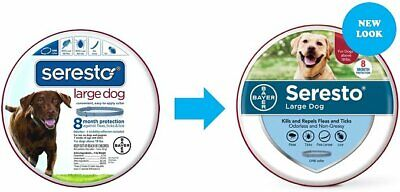 NEW BAYER SERESTO FOR LARGE DOGS 8 MONTH PROTECTION FLEA & TIC COLLAR OVER 18lbs