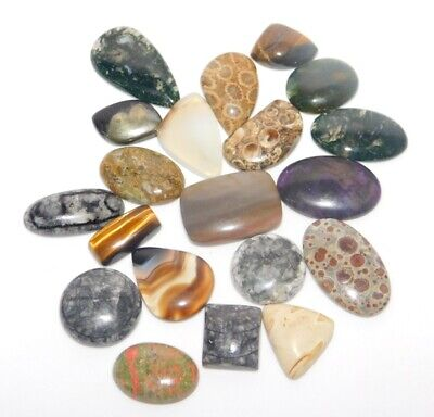Mix Gemstone Natural Cabochon Loose Gemstone Lot 402Cts. 43532