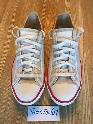 Converse Chuck Taylor All Star Trainers White / Off White With Red Detail UK 9