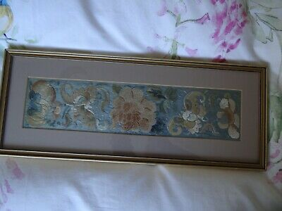 Chinese 19th Century Beautiful Antique Silk Embroidery Panel