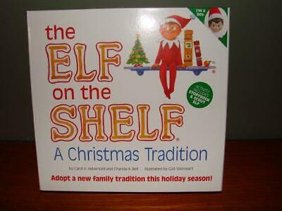 Elf on the Shelf Boy Light Skin Blue Eyes Eyed Brown Dark Hair Book NICE