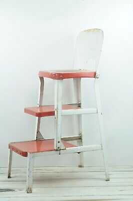 Vintage Keenco Kitchen Stool Pull Out Steps Step Stool Metal Chair Industrial