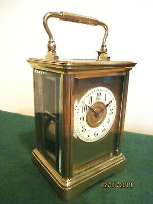 Anitique French Repeating Carriage Clock, circa 1880s.