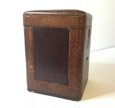 Original Antique Victorian Leather Travelling Case for Carriage Clock + Glass