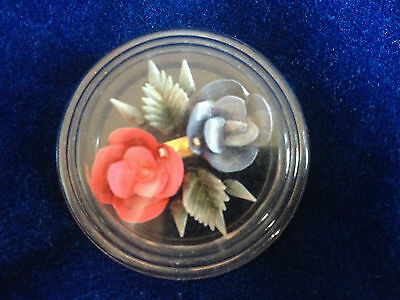 Vintage-Rare Clear Plastic Floral Broach - 1940-1950 - Very Pretty