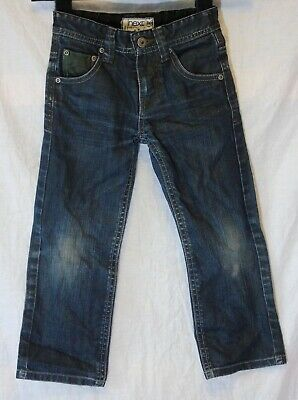 Boys Next Black Blue Denim Adjustable Waist Relaxed Fit Jeans Age 5 Years
