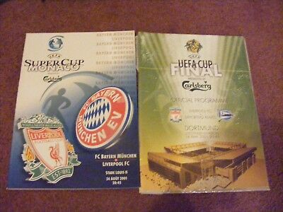 2001 Uefa Cup Final with Super Cup Alaves and Bayern Munich v Liverpool