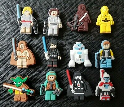 12 x Lego Star Wars Shoe Charms Made For Croc shoes Crocs Jibbitz Charm