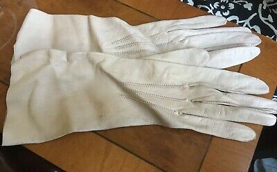 Haute Couture - Beautiful, 1950s, Lady's Leather Gloves By Le Gant Trefousse