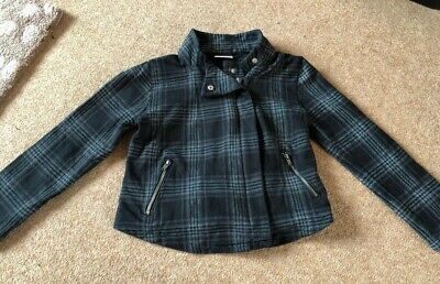 Next 6 Years Girls Smart Black Checked Jacket