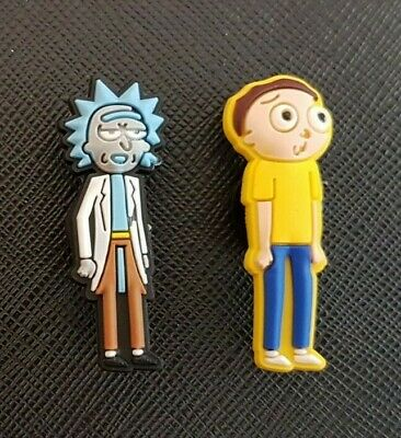 2 x Rick and Morty Shoe Charms Made For Croc shoes Crocs Jibbitz Charm