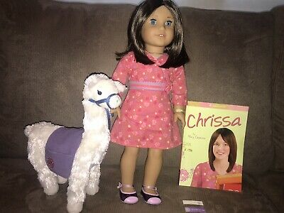 Retired American Girl Doll Of The Year 2009 Chrissa Maxwell Llama And Book Mint