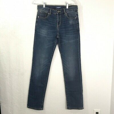 Old Navy Skinny Blue Jeans Adjustable Comfort Stretch Waist Boys Size 16 Regular