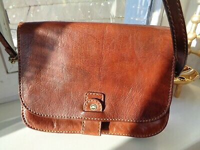 The Bridge Tasche cross over Leder Echtleder dunkelbraun Vintage