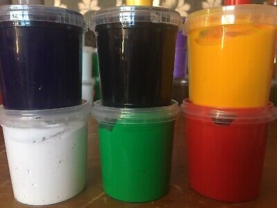 6 GORGEOUS COLOURS SCREEN PRINTING INK WATER BASED INK PAINT 155ml TUBS