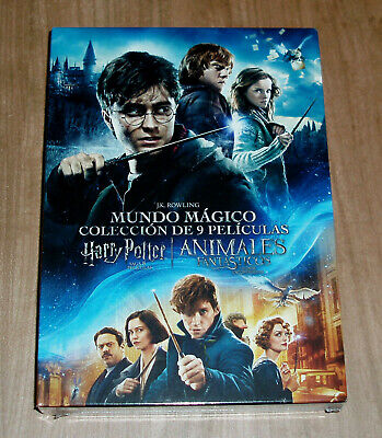 Coleccion Harry Potter+Animales Fantasticos 9 Dvd Precintado Accion (Sin Abrir)