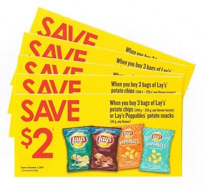 10x Save $2 on Lays Potato Chips Coupons (Canada)