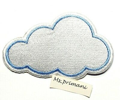 Meri Meri Set of 2 Embroidered Felt Iron on Patches Sun /& Cloud New