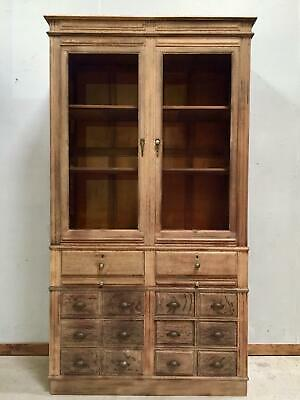 Antique Oak Bookcase / Industrial / Shop fitting / Apothecary / Library