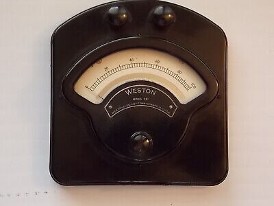 Vintage Weston Model 281 0-1000 Millivolt Dc Meter