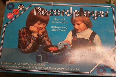 retro vintage Marx toys childrens record player boxed 78 rpm manual + records