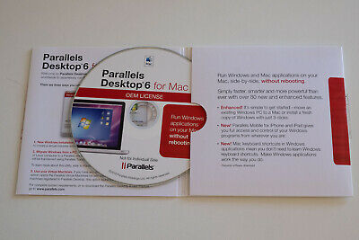 New  PARALLELS DESKTOP 6 For Mac Run Microsoft Windows Without REBOOT