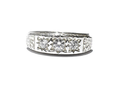 Men's CZ Ring men's Solid Sterling Silver Engagement Ring Cubic Zirconia