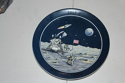 Armstrong- First Man on the Moon PLATE Adam Collins Made in Western Germany 1969