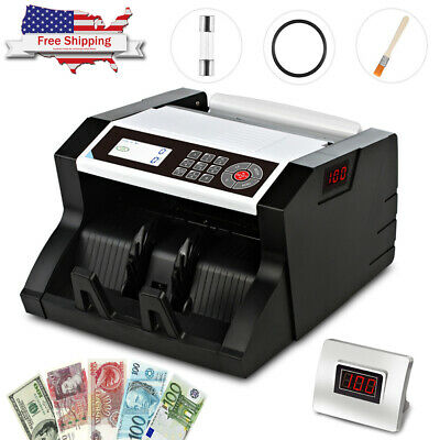 Newest Money Bill Cash Counter Bank Currency Counting Machine UV&MG Counterfeit