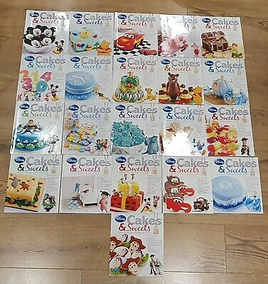 Disney Cakes And Sweets Magazine, 21 Issues, Great Party Recipes, Decorating VGC
