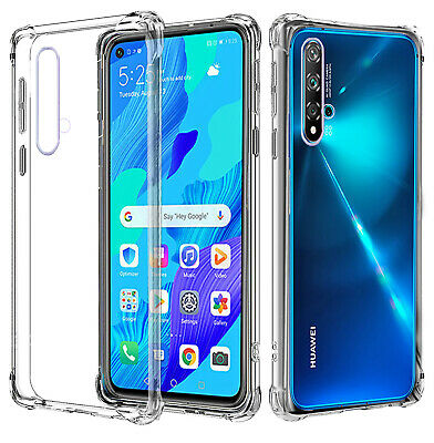 For Huawei Nova 5T Clear Case Heavy Duty Gel Shockproof Bumper Cover