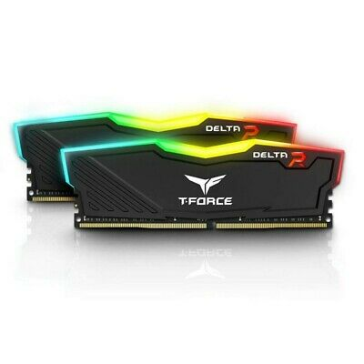 Team TF3D416G3000HC16CDC01 Delta 16GB (2x8GB) 3000MHz Black RGB DDR4 PC RAM G...