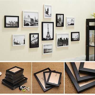 Multi Picture Photo Frame 11 Pieces Set Wall Mounted Frames Set Collage Family