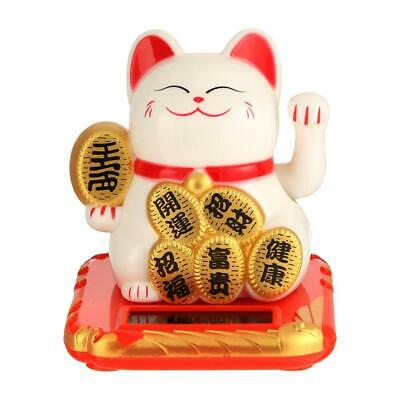 Chinese Lucky Cat Wealth Waving Arm Shaking Hand Fortune Welcome Craft Feng Shui