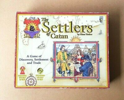 2003 The Settlers Of Catan Board Game Klaus Teuber Discover Settlement And Trade