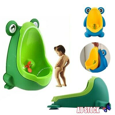 Cute Trainer Frog Shaped Pee Training Urinal Boys Bathroom Baby Potty Toilet