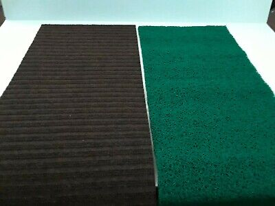 "12"" x 36""sluice box matting combo. Miners moss and carpet matting"
