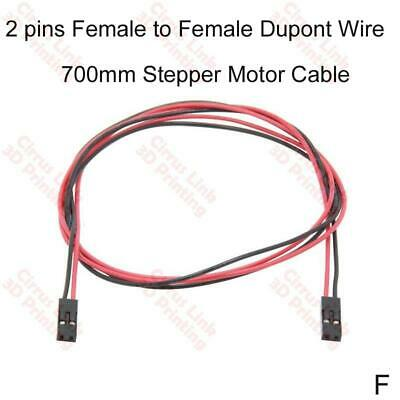 3D printer Part 2 PINs Female to Female Dupont Wire 700mm