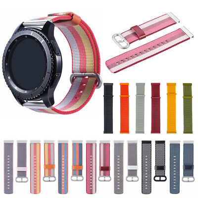 Woven Nylon Sport Loop Wrist Watch Band For Samsung Galaxy Active 2 Watch Strap