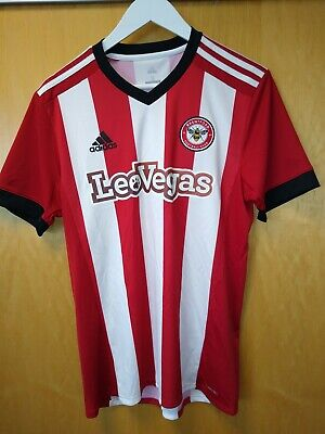 Brentford fc Home Shirt Short sleeved 17/18 Adidas Large. New with tags.