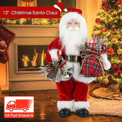 12'' Christmas Standing Santa Claus Father Figure Xmas Holiday Decoration Gift
