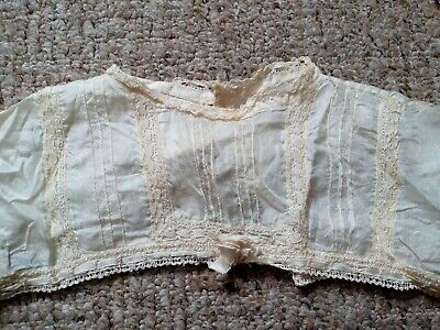 Antique Victorian handmade silk lace childs bodice top