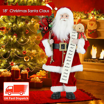 18'' New Christmas Standing Santa Claus Father Figure Xmas Home Decoration Gift