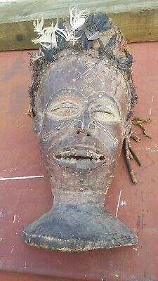 AUTHENTIC CHOKWE MASK African art ceremonial  stratification